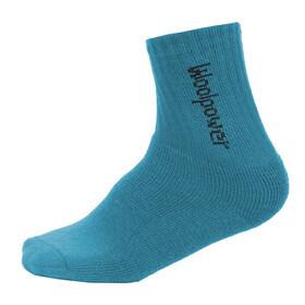 Woolpower Kids 400 Classic Logo Socks dolphin blue